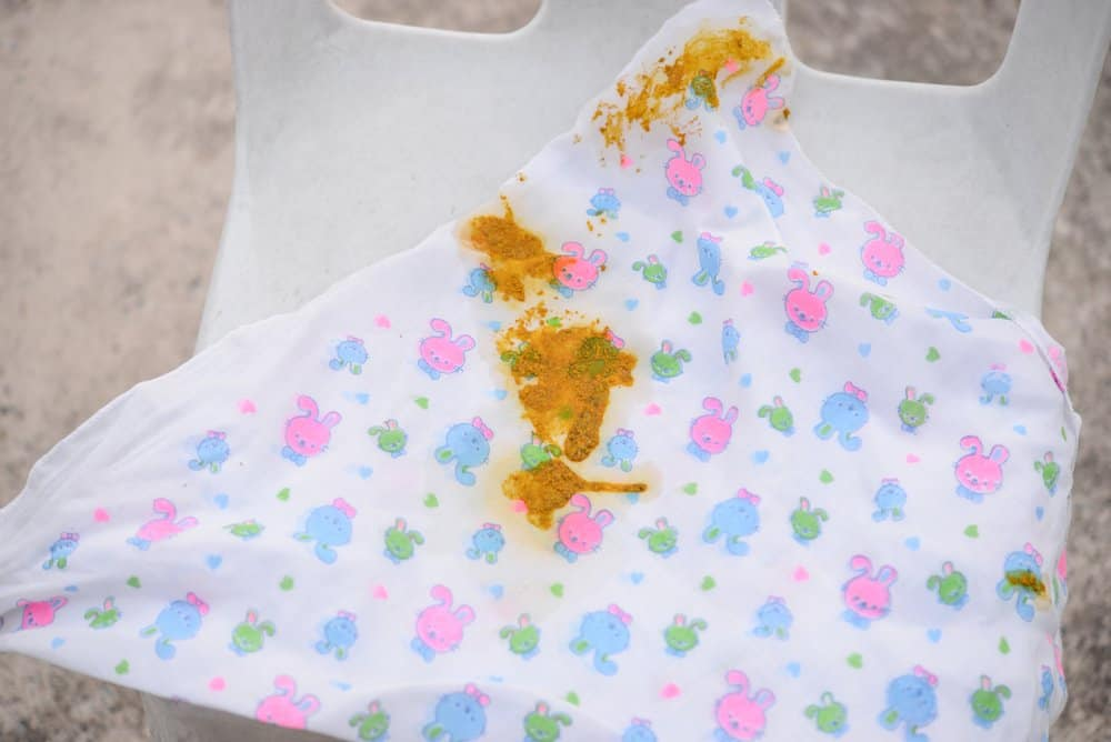 Stool children stained diapers